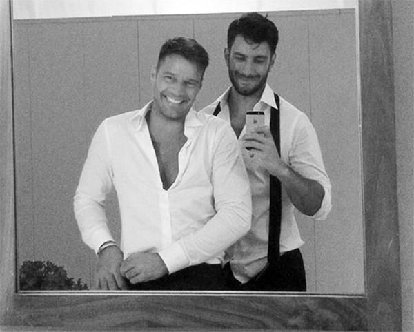 Ricky Martin e o artista plástico Jwan Yosef (Foto: Instagram)