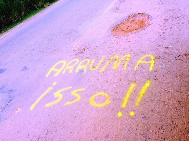 Dnit diz que realizará obras paliativa na rodovia nos próximos dias (Foto: Extra de Rondônia/Reprodução)