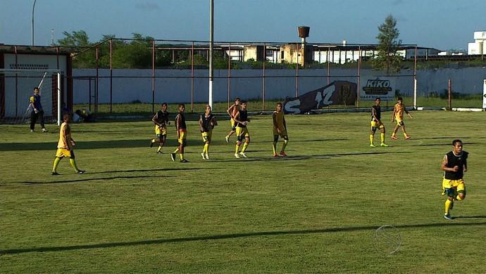Socorrense treino (Foto: Reprodução/TV Sergipe)