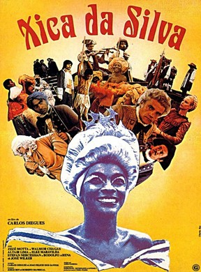 Cartaz de Zezé Motta no filme Chica da SIlva (Foto: Arquivo)