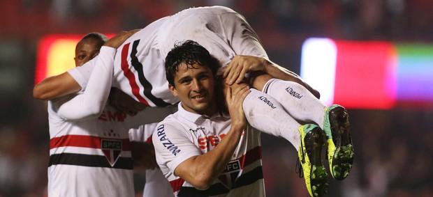 Ganso gol São Paulo (Foto: Marcos Bezerra / Ag. Estado)
