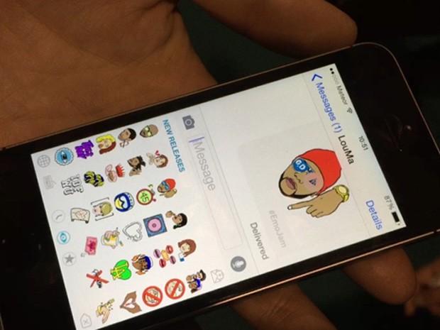 Emojam mostra emojis musicais no celular (Foto: Divulgação)