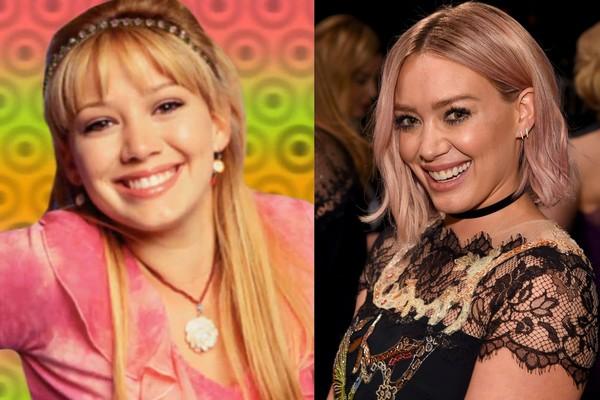 Hilary Duff em 2001 e em 2016 (Foto: Getty Images)