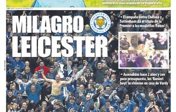 Jornais europeus celebram o feito do pequeno gigante Leicester no Inglês