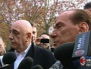 Berlusconi e Galliani entrevista Milan  (Foto: Reprodução)