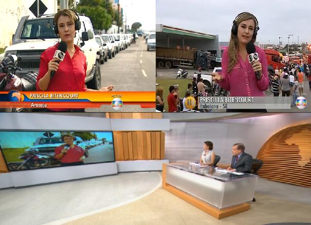 TV Sergipe realizada entradas ao vivo na TV Globo, com o 'Live U' (Foto: Divulgação / TV Sergipe)