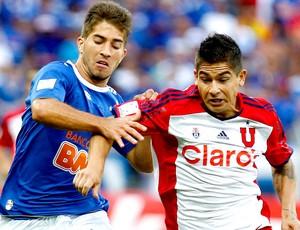 Lucas Silva jogo Cruzeiro e Universidad de Chile (Foto: AP)
