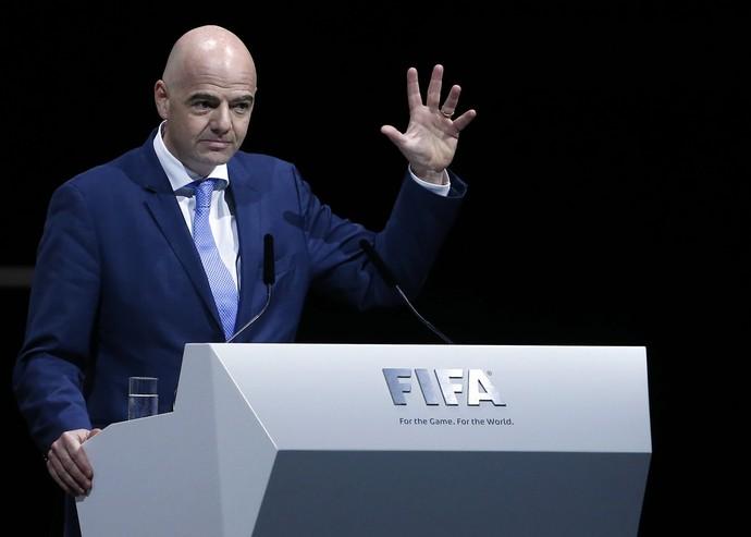 Gianni Infantino eleição Fifa (Foto: Reuters)