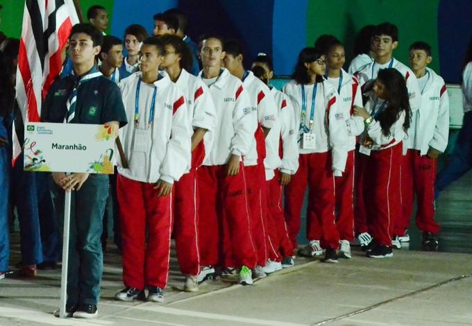 Delegação do Maranhão nos Jogos Escolares da Juventude 2014 em Londrina-PR (Foto: Paulo de Tarso Jr./Sedel)