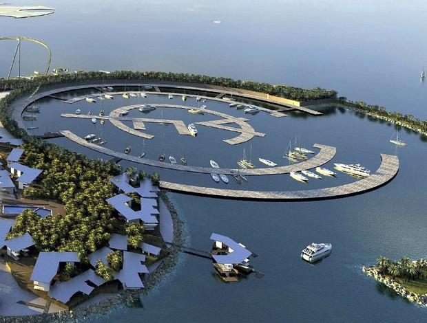 resort real madrid ilha artificail parque temático (Foto: Agência EFE)