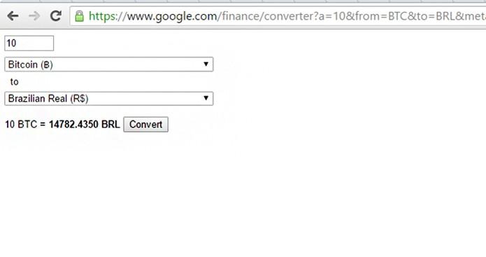 Google Oferece Conversor De Moedas Para Bitcoin Online Foto Reprodução Barbara Mannara