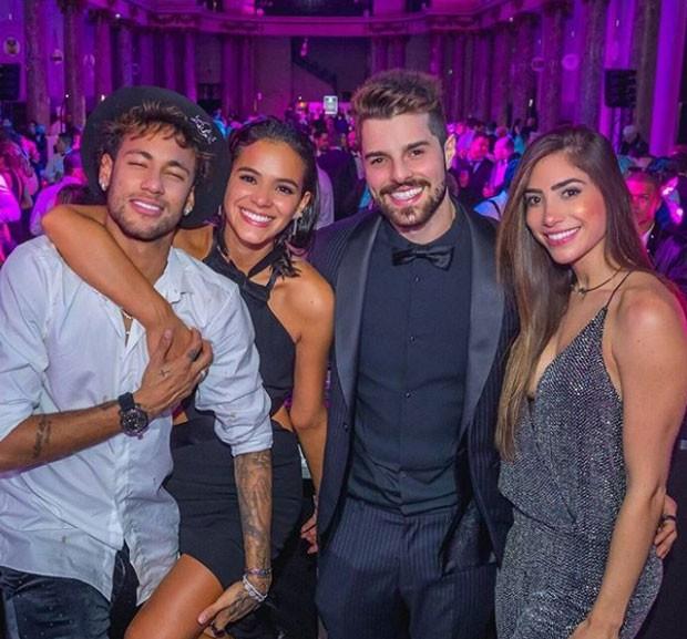 Neymar, Bruna Marquezine, Alok e Romana Novais (Foto: Reprodução/Alisson Demetrio)