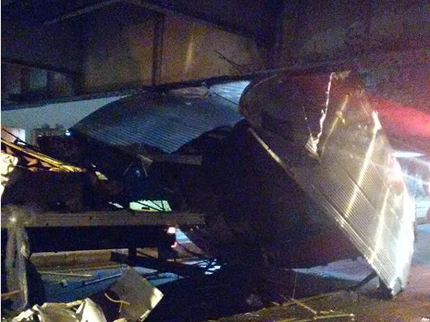 Motorista e carona ficaram feridos no acidente (Foto: Cícera Anair Barbosa Silva/Arquivo Pessoal)