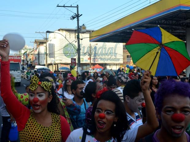 Amapá, macapá, palhaceata, palhaços, dia do palhaço, (Foto: Fabiana Figueiredo/G1)