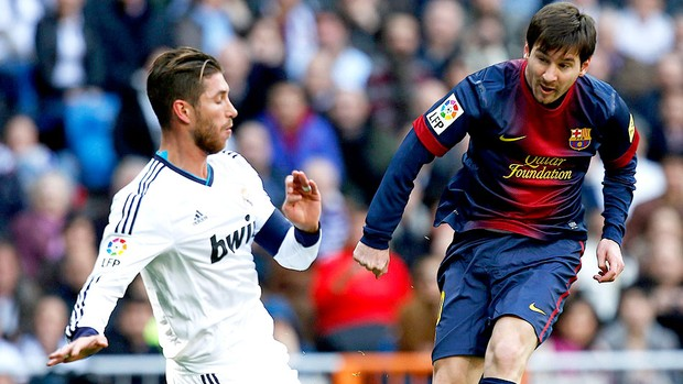 messi barcelona sergio ramos real madrid (Foto: Agência Reuters)