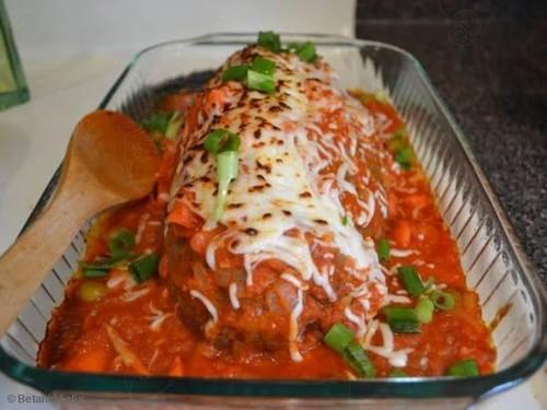 Bolo de Carne de Frango Moído com Quinoa