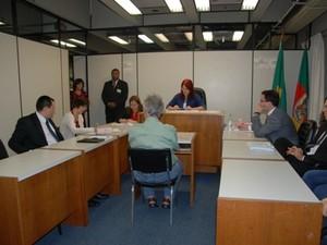 Caso Bernardo - Audiência foi presidida pela Juíza de Direito Tânia da Rosa (Foto: Hernrique Dellazeri)