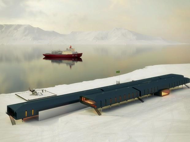 Vista panorâmica da Estação Antártica Comandante Ferraz (Foto: Divulgação/Estúdio 41)