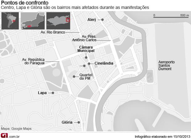 Mapa de destruição (Foto: Editoria de Arte/ G1)