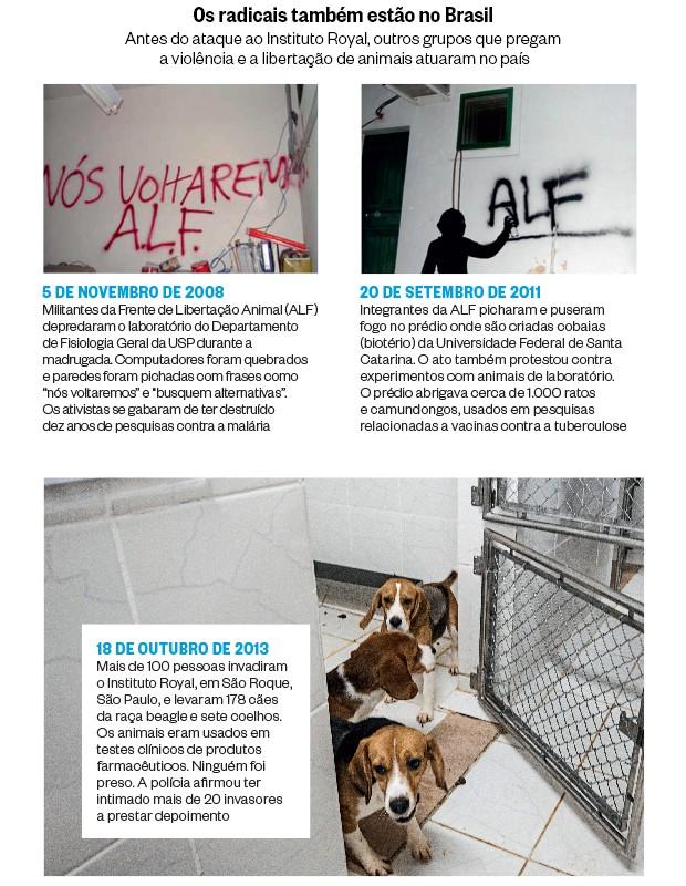Os radicais também estão no Brasil (Foto: Reprodução (2) e Avener Prado/Folhapress)