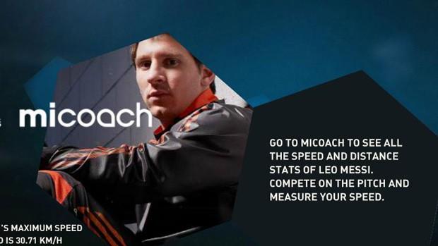 Messi lança site com dados sobre seu desempenho em 2012 (Foto: Divulgação)