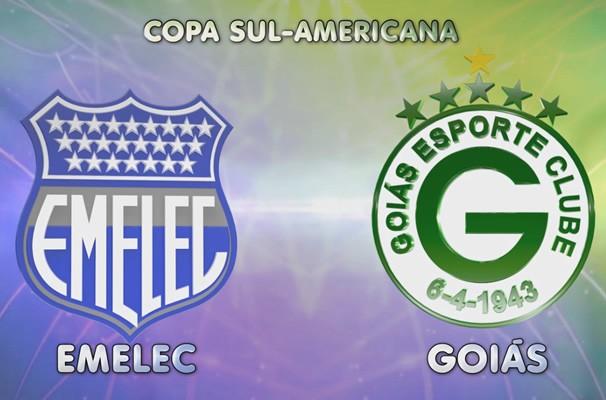 Emelec x Goiás - Copa Sulamericana (Foto: TV Anhanguera)