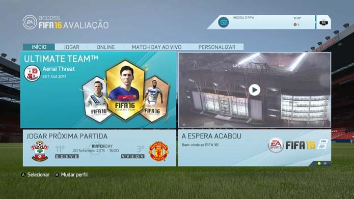 Fifa 16  como jogar o novo modo Ultimate Team (Foto  Reprodução Murilo 22e03169ff92a