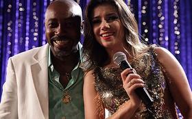 Paula Fernandes e Jeito Moleque animam elenco em gravação na Estudantina