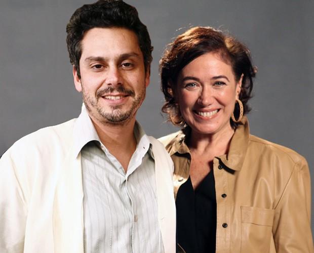 Alexandre Nero de 2009 com Lilia Cabral em 2014 (Foto: Fabrício Mota/TV Globo e Raphael Dias/TV Globo)