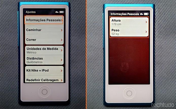 Adicione suas informações pessoais no app (Foto: Barbara Mannara/TechTudo)