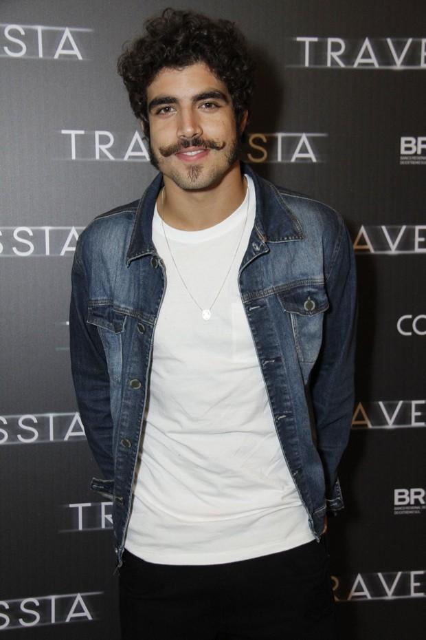Caio Castro - Pré estreia do filme Travessia (Foto: Marcos Ferreira / Brazil News / Divulgação )