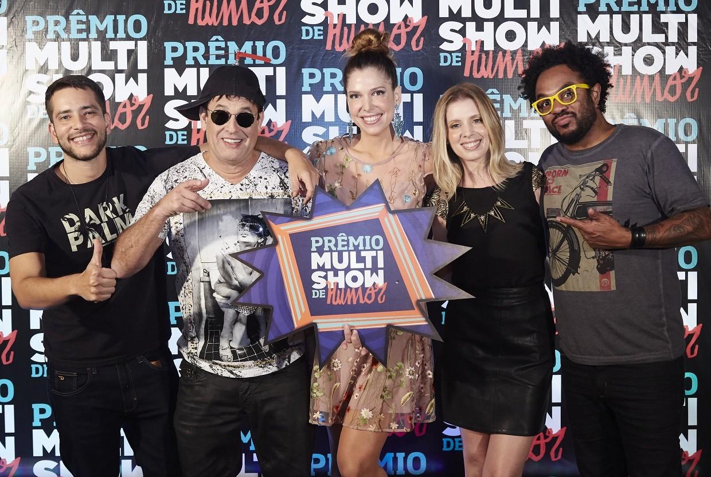 Elenco do Prmio Multishow de Humor apresenta o TVZ Ao Vivo desta segunda-feira (19) (Foto: Multishow)