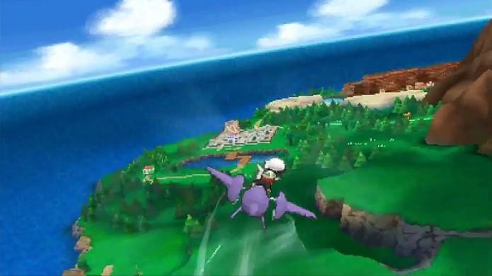 Habilidade Soar permite voar pelo mundo na Mega Evolução de Latios (Foto: Reprodução: YouTube)