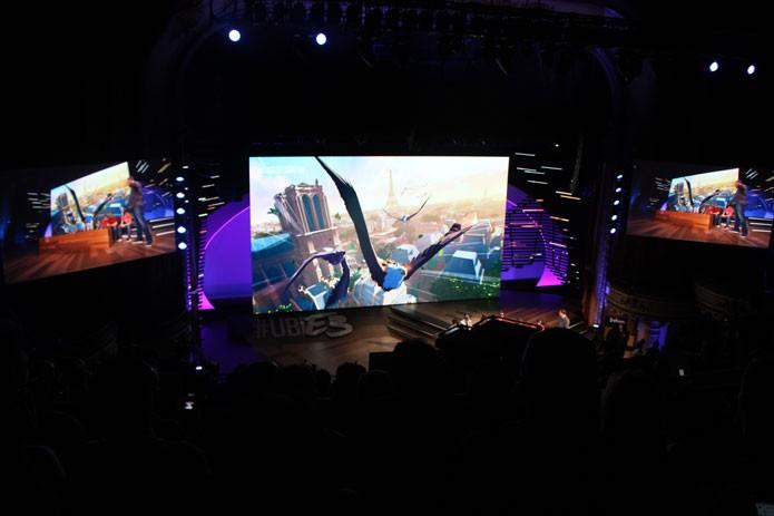 Eagle Flight durante a conferência da Ubisoft na E3 2016 (Foto: Reprodução/Tais Carvalho)