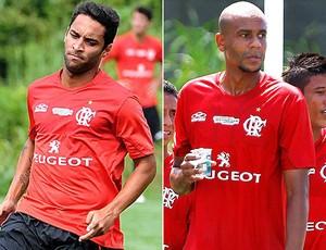 Montagem Flamengo Ibson Alex Silva (Foto: Editoria de Arte)
