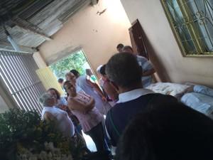 Família ficou assutada ao ver que corpo não era (Foto: Viviane Cordeiro/Arquivo Pessoal)