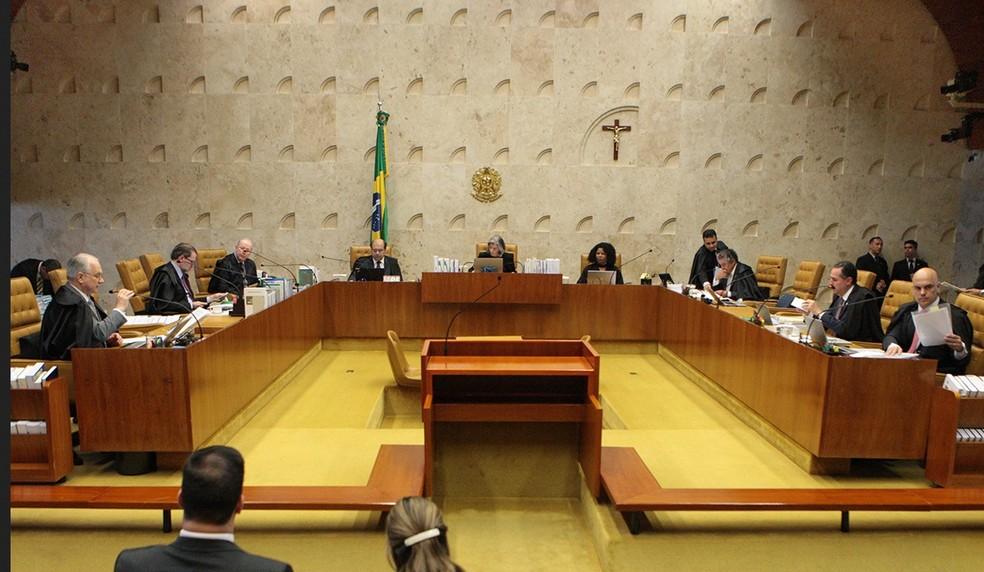 O ministros do STF, reunidos em plenário em imagem de arquivo (Foto: Carlos Moura/SCO/STF )