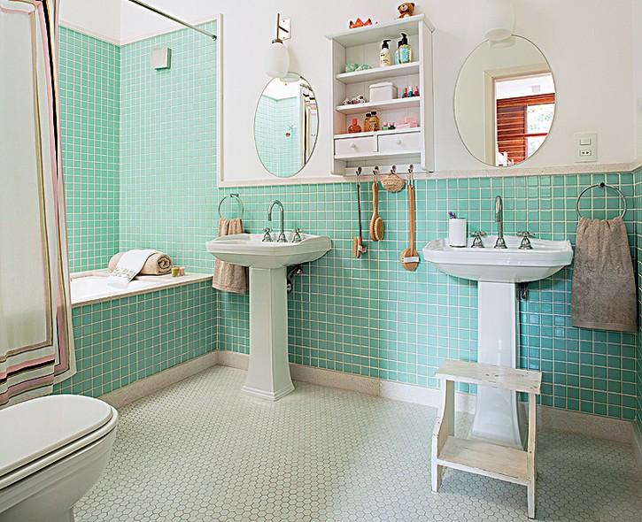 Banheiro de crian a casa e jardim galeria de fotos for Nova casa azulejos