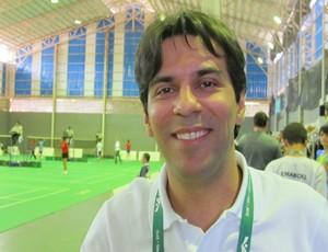 Francisco Ferras idealizador do projeto badminton Piauí Olimpíadas Escolares (Foto: Ana Carolina Fontes)