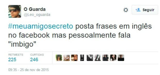 #meuamigosecreto 7 (Foto: Reprodução/Twitter)