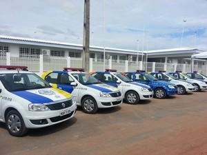 As novas viaturas vão garantir mais segurança à população  (Foto: Neidiana Oliveira/G1)