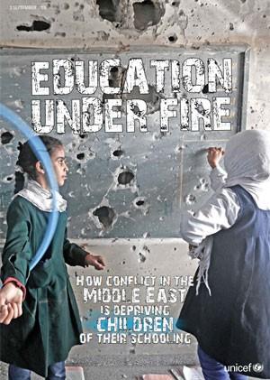 Conflitos deixam 13 milhões de crianças fora das escolas, diz Unicef. Relatório da Unicef divulgado nesta quinta (3) aponta impacto da violência. 9 mil colégios na Síria, Iraque, Iêmen e Líbia estão destruídos. (Foto: Reprodução/Unicef)