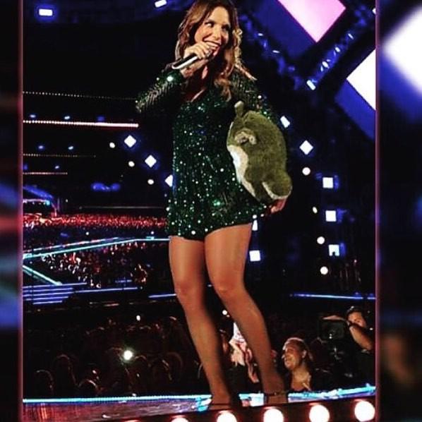 Ivete Sangalo - Verde Esmeralda no Show (Foto: Divulgação)