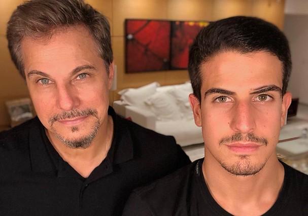 Edson e Enzo Celulari (Foto: Instagram/Reprodução)