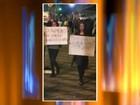 Grupo protesta contra aumento da tarifa do transporte público em Bauru