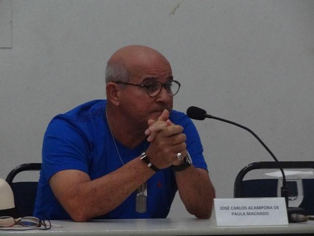 A segunda pessoa inquirida foi o coronel da PM José Carlos Acampora Machado (Foto: Luna Markman/G1)