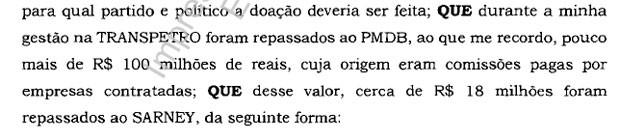 Trecho Sarney delação Sergio Machado na Lava Jato (Foto: Reprodução)
