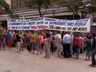 Moradores da ocupação Tomás Balduíno fazem ato em frente ao TJMG