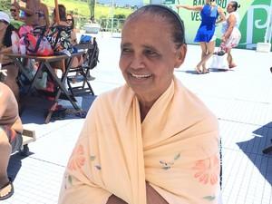 Stela Câmara, de 71 anos, veio com os netos ao Parque Radical de Deodoro (Foto: Fernanda Rouvenat / G1)