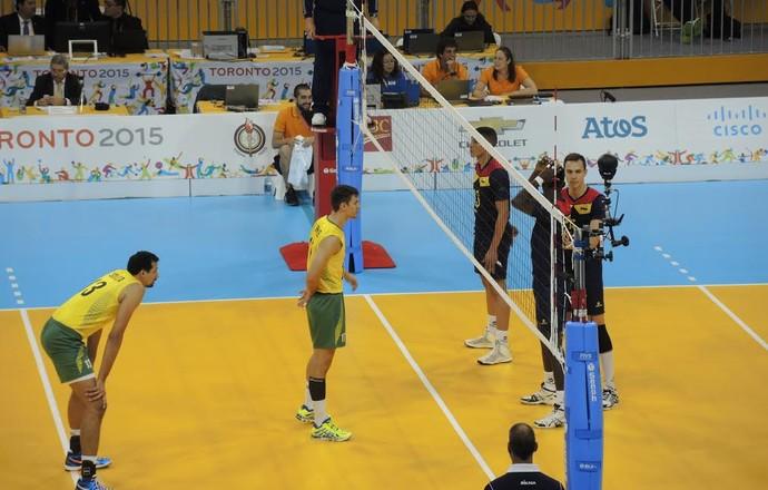 seleção vôlei masculino Pan Brasil x Colômbia (Foto: GloboEsporte.com)